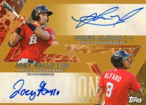 2015 Topps Pro Debut Baseball Dual Affiliation Autographs