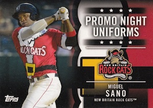 2015 Topps Pro Debut Baseball Promo Night Uniforms