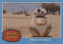 2015 Topps Star Wars Illustrated ESB Force Awakens 11 BB-8 Front