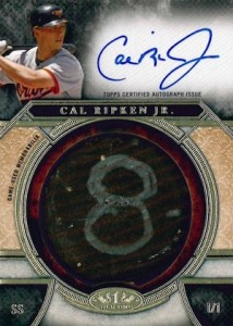 2015 Topps Tier One Baseball Bat Knob Autographs Ripken
