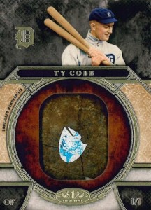 2015 Topps Tier One Baseball Bat Knobs Ty Cobb