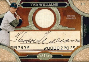2015 Topps Tier One Baseball Cut Signature Relics