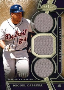 2015 Topps Tier One Baseball Relics Triple