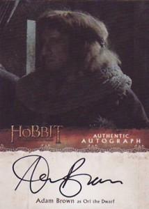 Hobbit Smaug Autographs Adam Brown