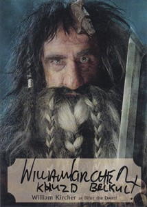 Hobbit Smaug Autographs Poster WK-P William Kircher