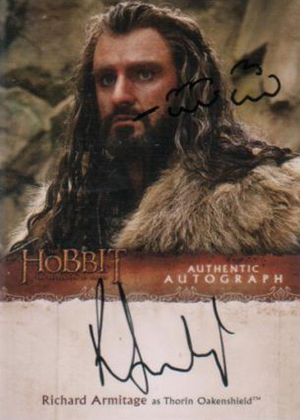 Hobbit Smaug Autographs Richard Armitage Doodle