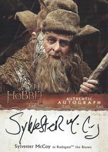 Hobbit Smaug Autographs Sylvester McCoy