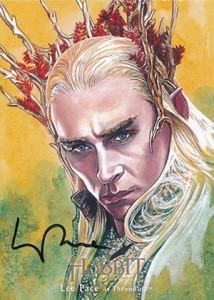 Hobbit Smaug Illustration Autograph Lee Pace