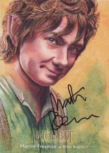 Hobbit Smaug Illustration Autograph Martin Freeman
