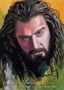 Hobbit Smaug Illustration Autograph Richard Armitage