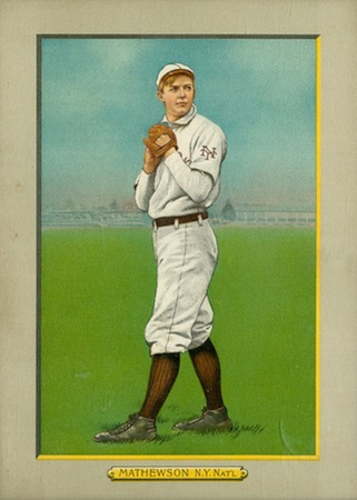 1910-11 T3 Turkey Red Baseball Cabinet Christy Mathewson
