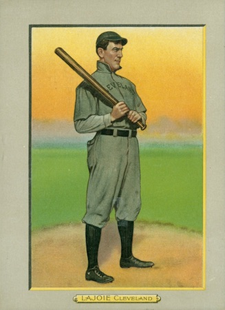 1910-11 T3 Turkey Red Baseball Cabinet Nap Lajoie