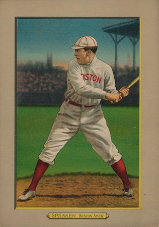 1910-11 T3 Turkey Red Baseball Cabinet Tris Speaker