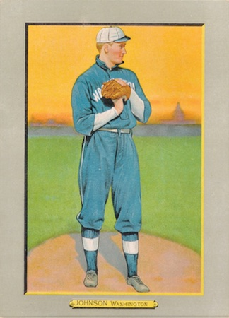 1910-11 T3 Turkey Red Baseball Cabinet Walter Johnson