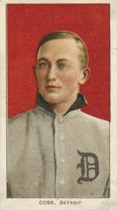 1910 T213 Coupon Baseball Type 1 Ty Cobb