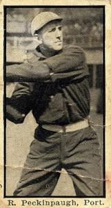 1911 T217 Mono Baseball Peckinpaugh