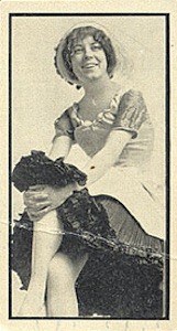 1911 T217 Mono Baseball actresses