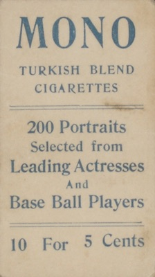 1911 T217 Mono Baseball delhi back