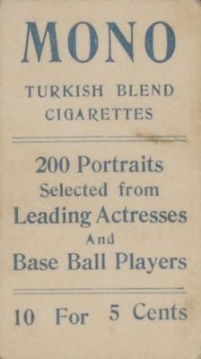 1911 T217 Mono Baseball Cards 2