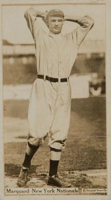1914 T222 Fatima Baseball Rube Marquard
