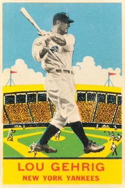 1933 DeLong Baseball Lou Gehrig