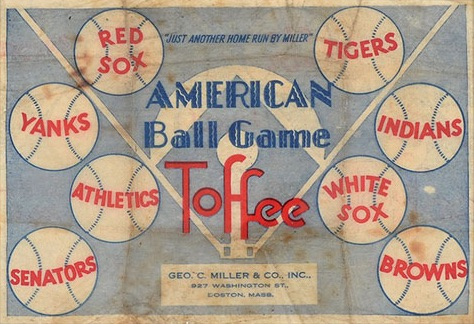 1933 George C. Miller Baseball Wrapper American League