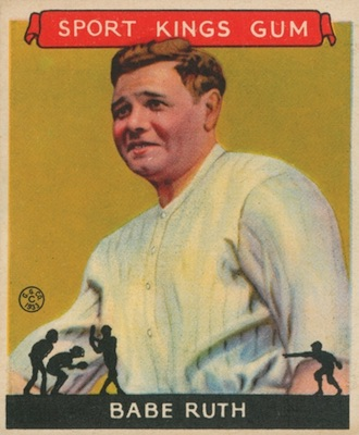 1933 Sport Kings Baseball Babe Ruth