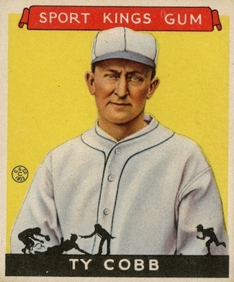 1933 Sport Kings Baseball Ty Cobb