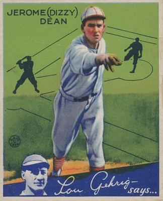 1934 Goudey Baseball Dizzy Dean
