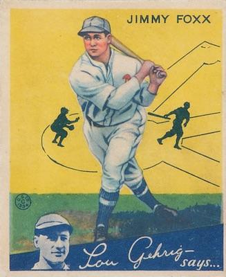 1934 Goudey Baseball Jimmie Jimmy Foxx