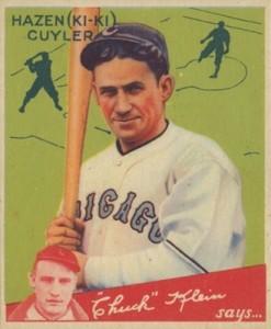 1934 Goudey Baseball Kiki Cuyler