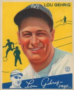 Top 10 Lou Gehrig Baseball Cards 6