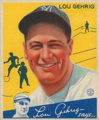 1934 Goudey Baseball Lou Gehrig 37