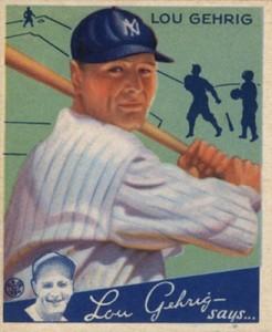 1934 Goudey Baseball Lou Gehrig 61