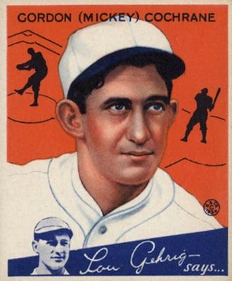 1934 Goudey Baseball Mickey Cochrane