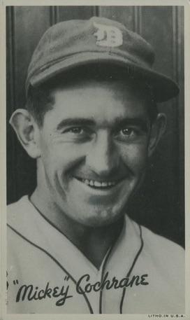 1936 Goudey Wide Pen Premium Baseball Mickey Cochrane