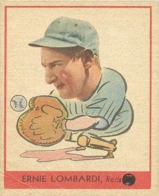1938 Goudey Baseball Ernie Lombardi 246