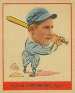1938 Goudey Baseball Hank Greeberg 253