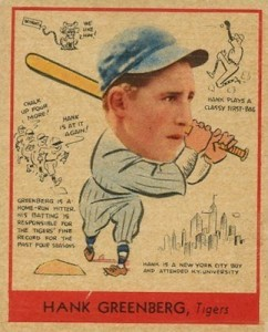 1938 Goudey Baseball Hank Greeberg 277