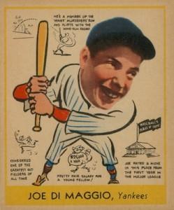 1938 Goudey Baseball Joe DiMaggio 274