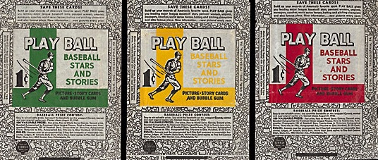 1940 Play Ball Baseball wrapper pack