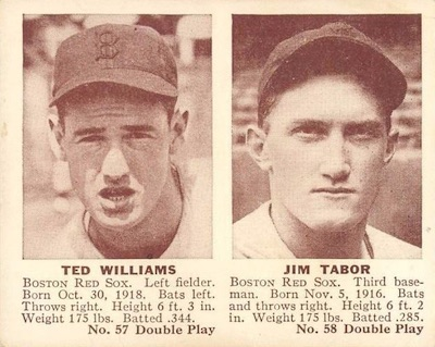 1941 Double Play Baseball 57 58 Ted Williams Jim Tabor
