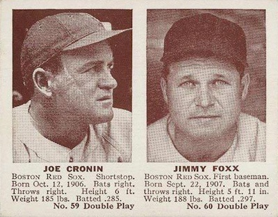 1941 Double Play Baseball 59 60 Joe Cronin Jimmy Foxx