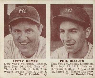 1941 Double Play Baseball 61 62 Lefty Gomez Phil Rizzuto