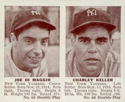 1941 Double Play Baseball 63 64 Joe DiMaggio Charley Keller