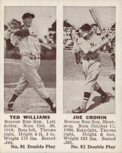 1941 Double Play Baseball 81 82 Ted Williams Joe Cronin