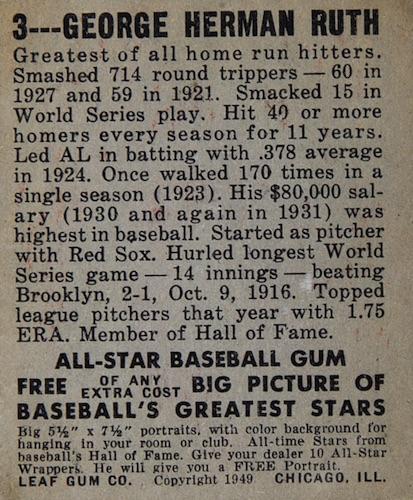 1948-49 Leaf Baseball Cards 2