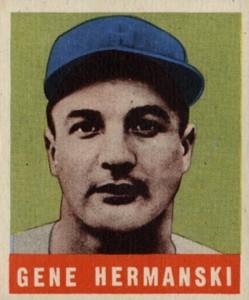 1948-49 Leaf Baseball Gene Hermanski Corrected