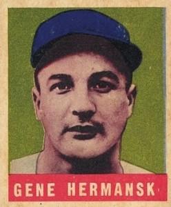 1948-49 Leaf Baseball Gene Hermanski Error Hermansk
