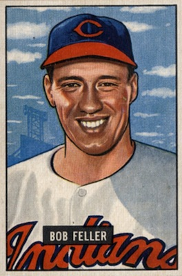1951 Bowman Baseball Bob Feller